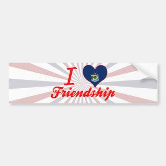 Amo la amistad, Maine Pegatina De Parachoque