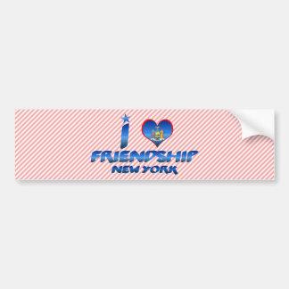 Amo la amistad, Nueva York Etiqueta De Parachoque