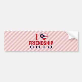 Amo la amistad Ohio Pegatina De Parachoque