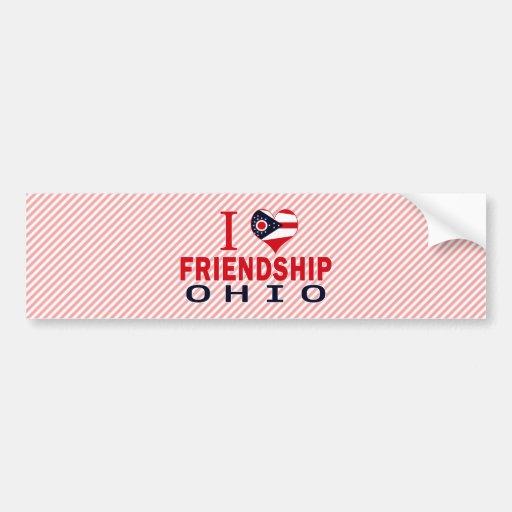 Amo la amistad, Ohio Pegatina De Parachoque