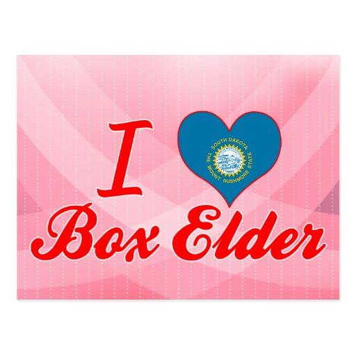 Amo la anciano de caja, Dakota del Sur Tarjeta Postal