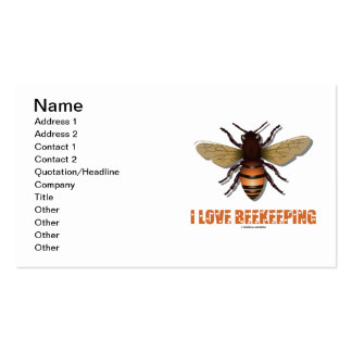 Amo la apicultura (la abeja) plantillas de tarjeta de negocio