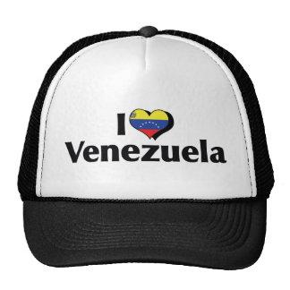 Amo la bandera de Venezuela Gorro De Camionero