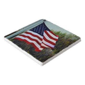 Amo la bandera Trivet de los E.E.U.U. Salvamanteles