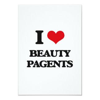 Amo la belleza Pagents Invitación 8,9 X 12,7 Cm