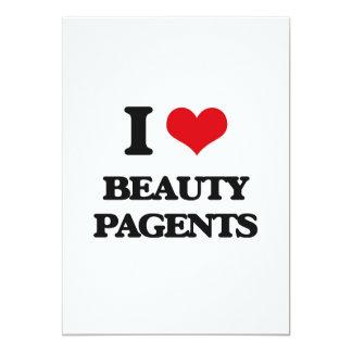 Amo la belleza Pagents Invitación 12,7 X 17,8 Cm