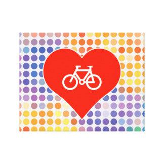 Amo la bicicleta impresión en lona estirada