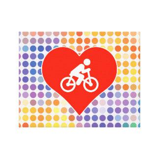 Amo la bicicleta impresiones en lona estiradas