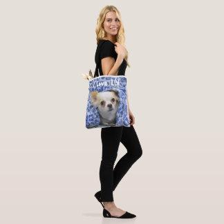 Amo la bolsa de asas de la playa de la chihuahua