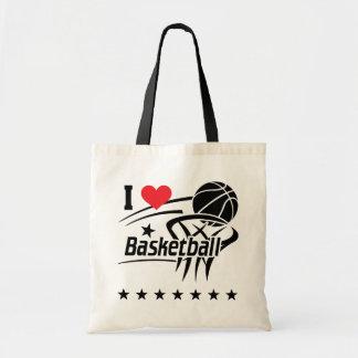 Amo la bolsa de asas del baloncesto
