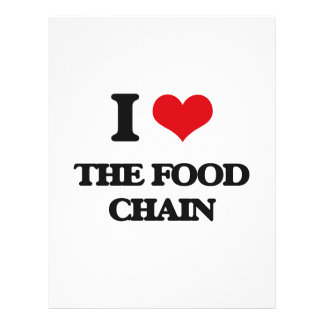 Amo la cadena alimentaria folleto 21,6 x 28 cm