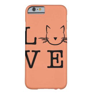 Amo la caja del teléfono 6/6s de los gatos I Funda Barely There iPhone 6