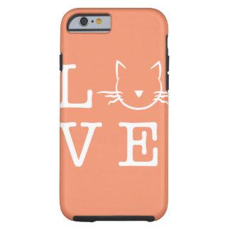 Amo la caja del teléfono 6/6s de los gatos I Funda De iPhone 6 Tough