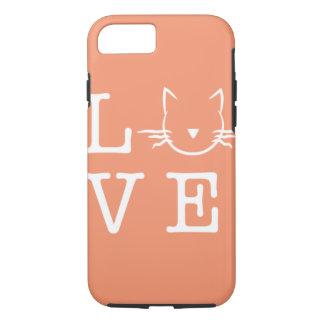 Amo la caja del teléfono 6/6s de los gatos I Funda iPhone 7