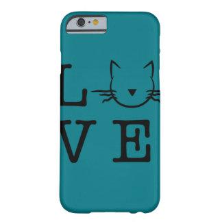 Amo la caja del teléfono 6/6s de los gatos I Funda Para iPhone 6 Barely There