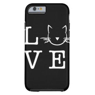 Amo la caja del teléfono 6/6s de los gatos I Funda Resistente iPhone 6