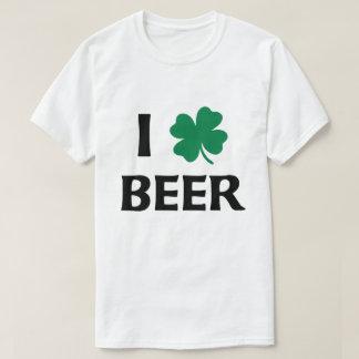 Amo la camisa de la cerveza