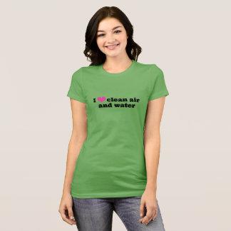 Amo la camisa del aire limpio y del agua