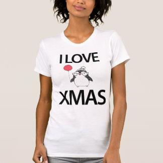 Amo la camisa del navidad con el globo