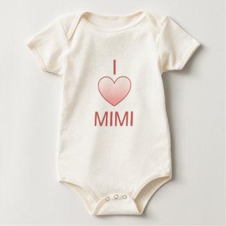 Amo la camisa mimi para el bebé