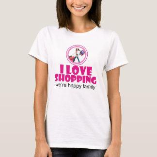 Amo la camiseta básica de las mujeres de la