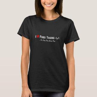 Amo la camiseta comercial de las divisas