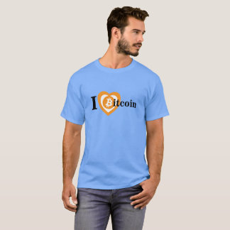 Amo la camiseta de Bitcoin Camiseta