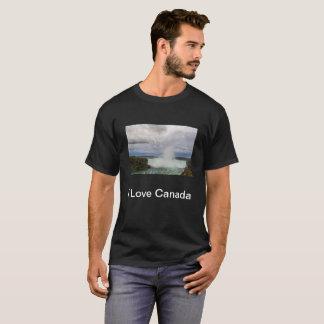 Amo la camiseta de Canadá con el Niagara Falls