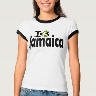 Amo la camiseta de la bandera de Jamaica