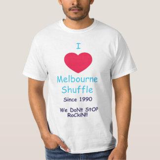 Amo la camiseta de la barajadura de Melbourne