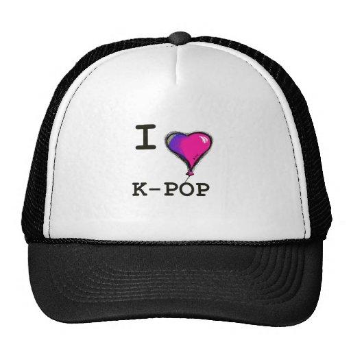 Amo la camiseta de la camiseta de K-POP (el hwaiti Gorra