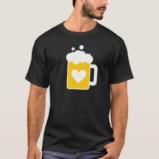 Amo la camiseta de la cerveza
