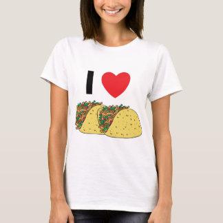 Amo la camiseta de la mujer del Tacos