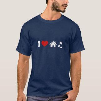 Amo la camiseta de la música de la casa