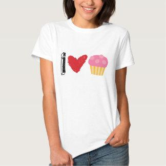 Amo la camiseta de la torta