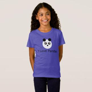 Amo la camiseta de las pandas
