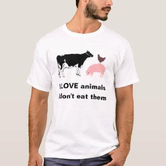 Amo la camiseta de los animales