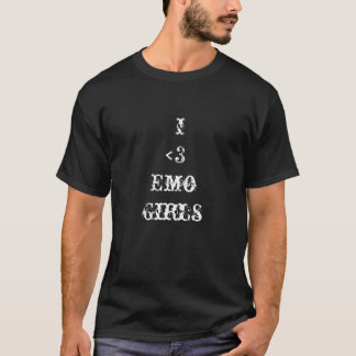 Amo la camiseta de los chicas de Emo