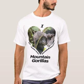 Amo la camiseta de los gorilas de montaña