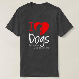 Amo la camiseta de los perros