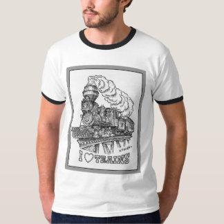 Amo la camiseta de los trenes