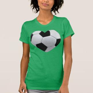 Amo la camiseta del balón de fútbol del corazón