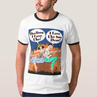 Amo la camiseta del campanero de los hombres de