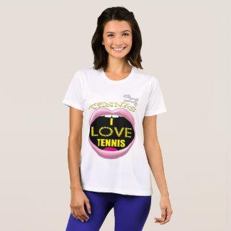 Amo la camiseta del competidor de las mujeres del