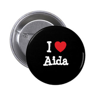 Amo la camiseta del corazón de Aida Pins
