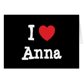 Amo la camiseta del corazón de Ana Tarjetón