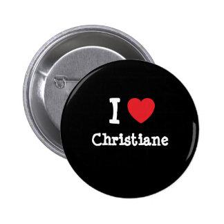 Amo la camiseta del corazón de Christiane Pins