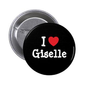 Amo la camiseta del corazón de Giselle Pins