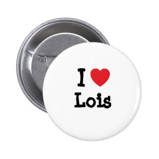 Amo la camiseta del corazón de Lois Pin
