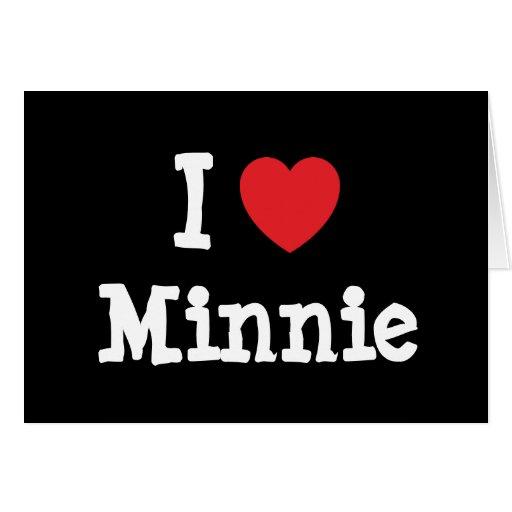 Amo la camiseta del corazón de Minnie Tarjeta